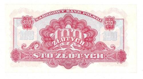 PRL, 100 złotych 1944 , seria MO - ...obowiązkowe...