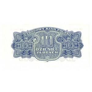 PRL, 10 złotych 1944 , seria EM - ...obowiązkowym...