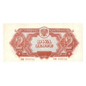 PRL, 2 złote 1944 , seria I - ...obowiązkowym...