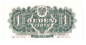 PRL, 1 złoty 1944 , seria I -