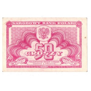PRL, 50 groszy 1944 bez oznaczenia serii i numeracji