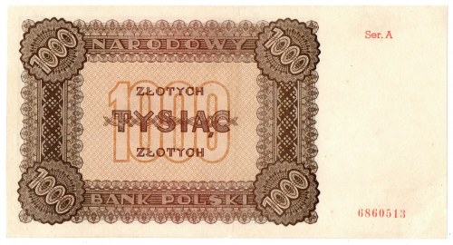 PRL, 1000 złotych 1945 A