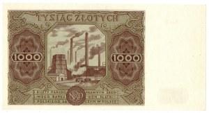 PRL, 1.000 złotych 1947 B