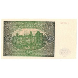 Peoples Republic of Poland, 500 zloty 1946