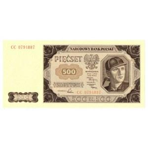 PRL, 500 złotych 1948 CC