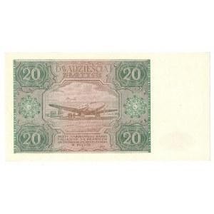 PRL, 20 złotych 1946 F