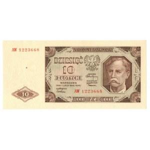 PRL, 10 złotych 1948 AW