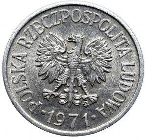 Peoples Republic of Poland, 20 groschen 1975 mint error