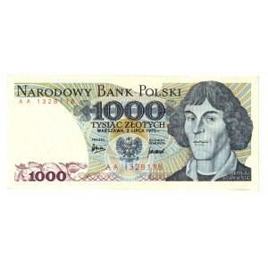 PRL, 1000 złotych 1975 AA