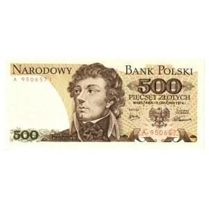 PRL, 500 złotych 1974 A
