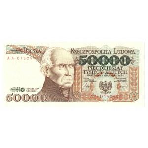 50.000 złotych 1989 AA