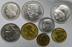 Grecja, zestaw monet
