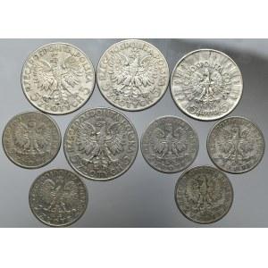 II RP, Zestaw monet srebrnych