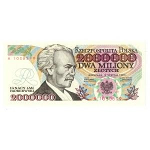 2 mln złotych 1992 z błędem  Sejm Konstytucyjy 1919r.
