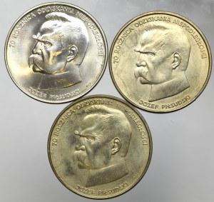 PRL, 50000 Piłsudski - zestaw 3 egzemplarze