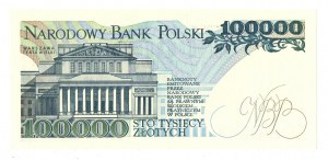 Peoples Republic of Poland, 100000 zloty 1990 BA