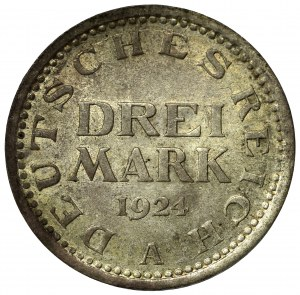 Germany, 3 marks 1924