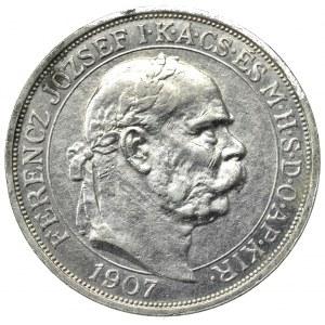 Węgry, Franciszek Józef, 5 koron 1907 - 40-lecie koronacji