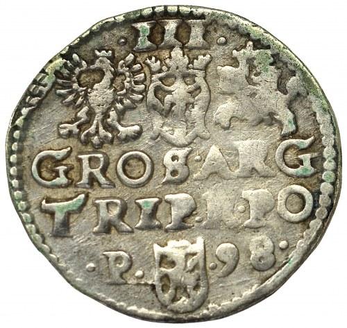 Zygmunt III Waza, Trojak 1598, Poznań