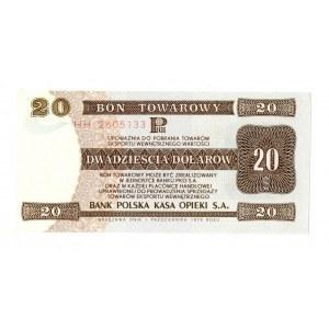 Pewex, Bon Towarowy, 20 dolarów 1979