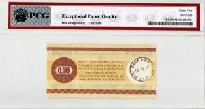 Pewex, Bon Towarowy, 50 centów 1979 PCG 65 EPQ