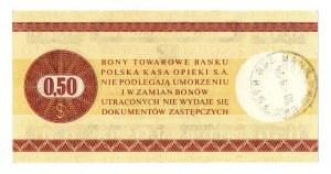 Pewex, Bon Towarowy, 50 centów 1979
