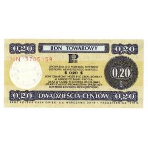 Pewex, Bon Towarowy, 20 centów 1979