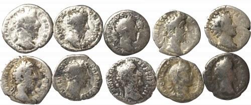 Rzym, zestaw denarów