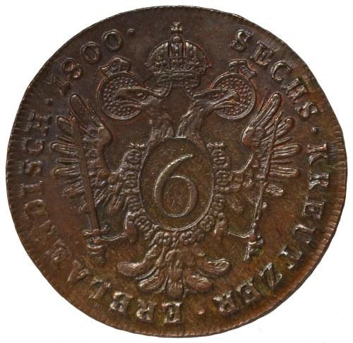 Austria, Franz II, 6 kreuzer 1800