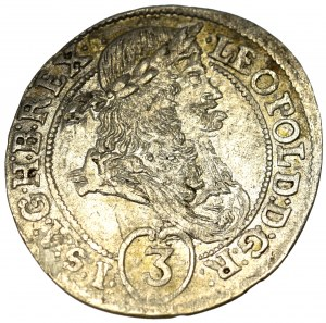 Austro-Hungary, 3 kreuzer 1694 KB, Kremnitz