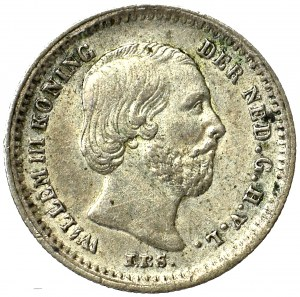 Niderlandy, William III, 5 cents 1879
