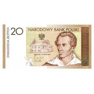 III RP, 20 złotych 2009 - Juliusz Słowacki