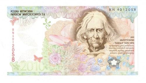 PWPW, banknot testowy - Jan Krzeptowski