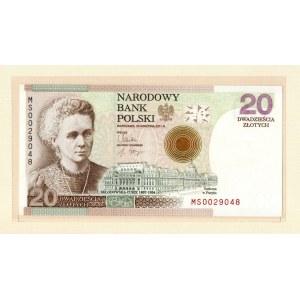 III RP, 20 złotych, Maria Skłodowska-Curie