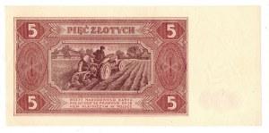 PRL, 5 złotych 1948 E