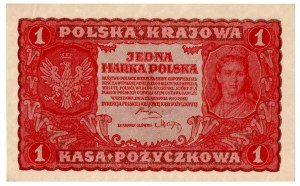 II Rzeczpospolita, 1 marka polska 1919 I SERIA CD