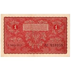 II Rzeczpospolita, 1 marka polska 1919 I SERIA DD