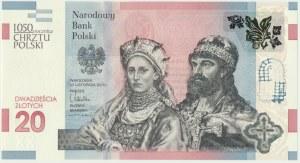 III RP, 20 złotych 2015 - 1050 rocznica chrztu Polski