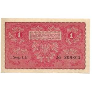 II Rzeczpospolita, 1 marka polska 1919 I SERJA LH