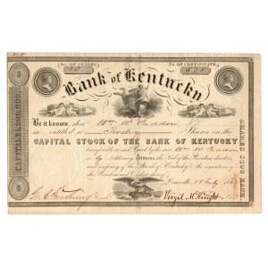 USA, Akcja Bank of Kentucky 1842