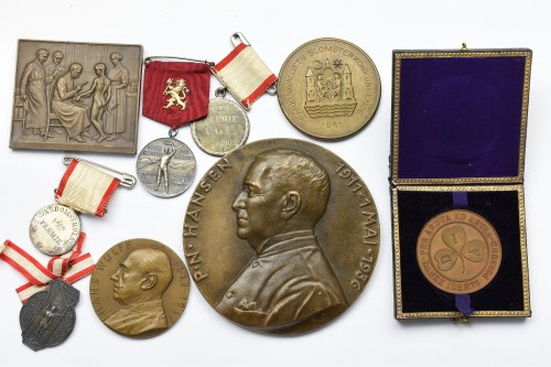 A set of medals - including a commemorative surgeon Hans Wulff