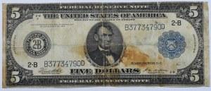 USA, 5 dollars 1914