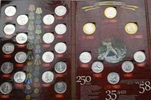 Rosja, 5 rubli monety Rosji 70 - lat Zwycięstwa - ciekawy zestaw