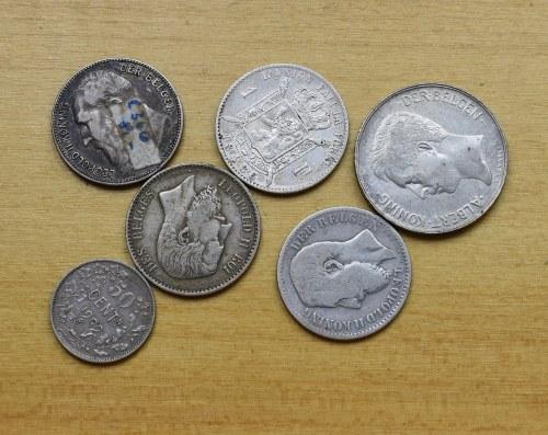 Francja, zestaw srebrnych monet