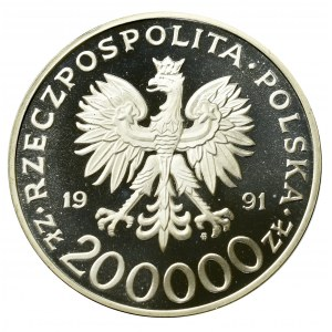 III RP, 200.000 złotych 1991 MTP