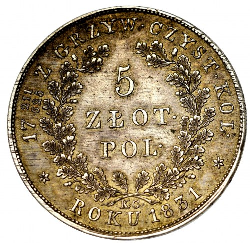 November uprising, 5 zloty 1831 - NGC MS62