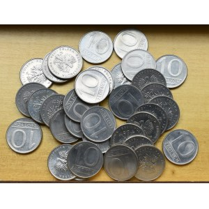 PRL, 10 złotych zestaw monet - 33 egzemplarze