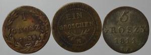 Polska pod zaborami, zestaw monet