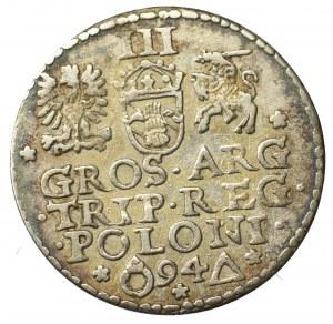 Zygmunt III Waza, Trojak 1594, Malbork