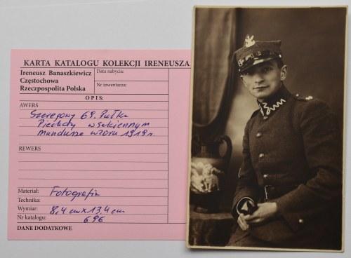 II RP, Fotografia szeregowego 69 Pułku Piechoty z kolekcji I. Banaszkiewicza